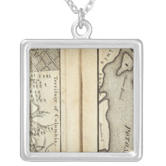 Philadelphia to Washington Road Map 2 Silver Plated Necklace