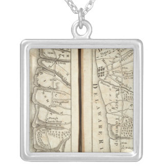 Philadelphia to Washington Road Map 4 Silver Plated Necklace