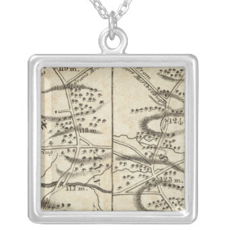 Philadelphia to Washington Road Map Silver Plated Necklace