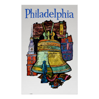Philadelphia travel poster