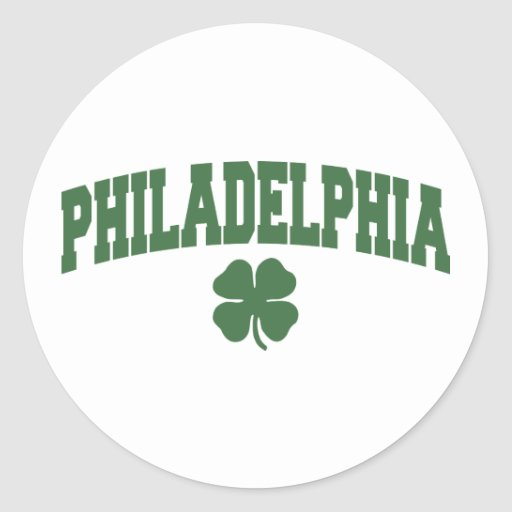Philadelphia (trébol irlandés) pegatinas redondas