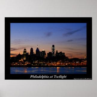 Philadelphia Twilight Poster
