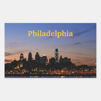 Philadelphia Twilight Skyline Sticker
