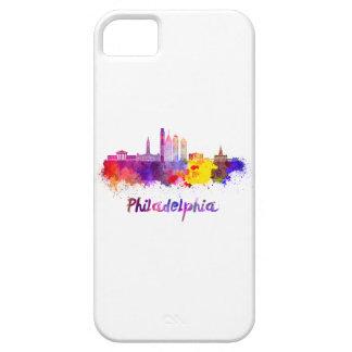 Philadelphia V2 skyline in watercolor iPhone SE/5/5s Case