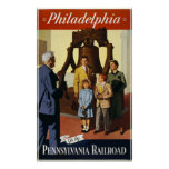 Philadelphia va por el ferrocarril de Pennsylvania Posters