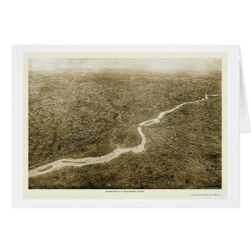 Philadelphia Vicinity, PA Panoramic Map - 1926 Greeting Card