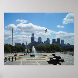 Philadelphia View Poster