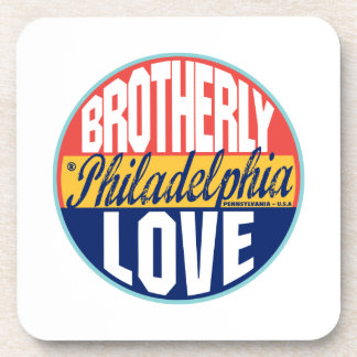 Philadelphia Vintage Label Drink Coaster