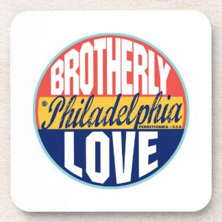 Philadelphia Vintage Label Drink Coaster
