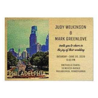 Philadelphia Wedding Invitation Vintage Philly