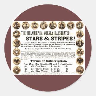 Philadelphia Weekly 1918 Stars & Stripes Newspaper Classic Round Sticker