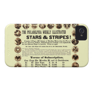 Philadelphia Weekly 1918 Stars & Stripes Newspaper iPhone 4 Cover