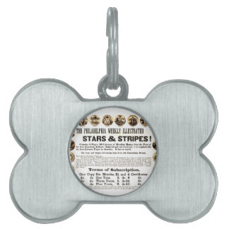 Philadelphia Weekly 1918 Stars & Stripes Newspaper Pet ID Tag