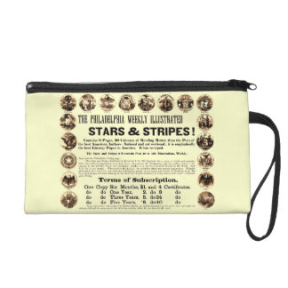 Philadelphia Weekly 1918 Stars & Stripes Newspaper Wristlet Purse