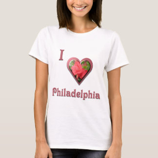 Philadelphia -- with Red Rose T-Shirt