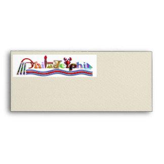 Philadelphia Word Art Envelope