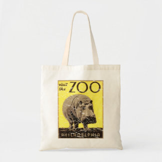 Philadelphia Zoo-Hippo Canvas Bags