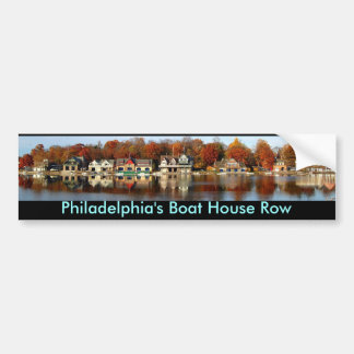 Philadelphia's Boat House Row bumper sticker.. Bumper Sticker