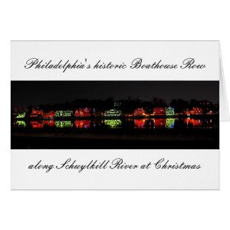 Philadelphia's historic Boathouse Row greetingcard Greeting Card