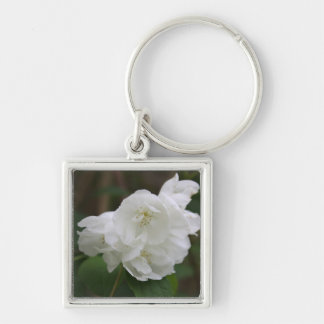 Philadelphus  (Mock Orange) Flower Key Chain