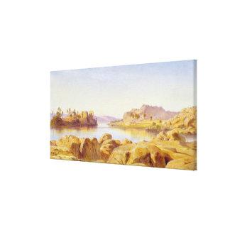 Philae, Egipto, 1863 (aceite en lona) Impresión De Lienzo