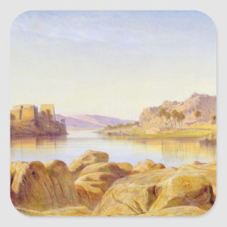 Philae, Egypt, 1863 (oil on canvas) Square Sticker