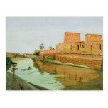 Philae en el Nilo, 1894 Postal