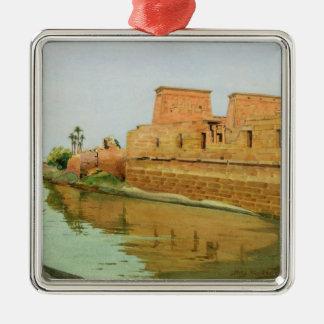 Philae on the Nile, 1894 Metal Ornament