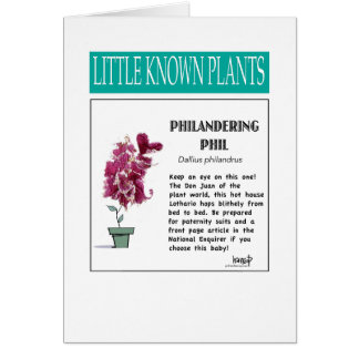 Philandering hil - Little Known Plant Series Card