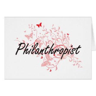 Philanthropist Artistic Job Design with Butterflie Card