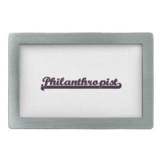 Philanthropist Classic Job Design Rectangular Belt Buckle