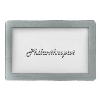 Philanthropist Classic Job Design Rectangular Belt Buckles