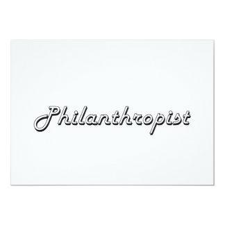 """Philanthropist Classic Job Design 5"""" X 7"""" Invitation Card"""