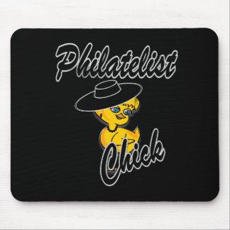 Philatelist Chick #4 Mouse Pad