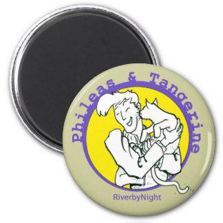 Phileas & Tangerine 2 Inch Round Magnet