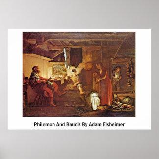 Philemon And Baucis By Adam Elsheimer Print