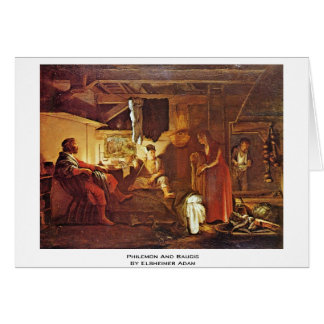 Philemon And Baucis By Elsheimer Adam Card