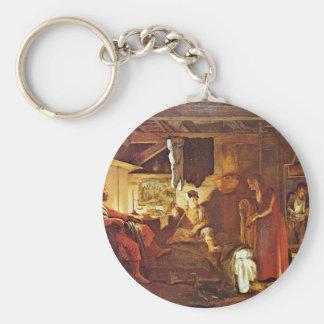 Philemon And Baucis By Elsheimer Adam Key Chain