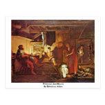 Philemon And Baucis By Elsheimer Adam Postcard