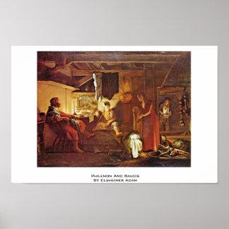 Philemon And Baucis By Elsheimer Adam Poster