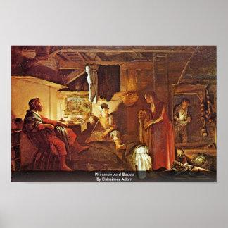 Philemon And Baucis By Elsheimer Adam Print