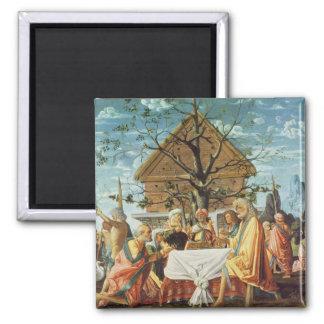 Philemon and Baucis, c.1500 2 Inch Square Magnet