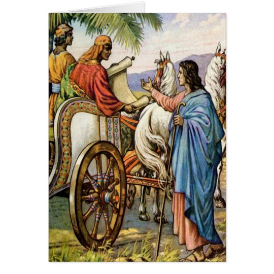philip and the man in a chariot Greeting card