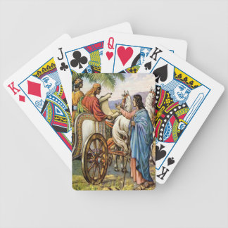 philip and the man in a chariot playing cards