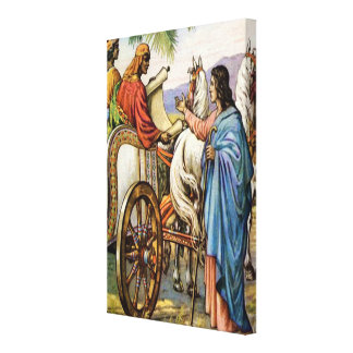 philip and the man in a chariot Wrapped Canvas
