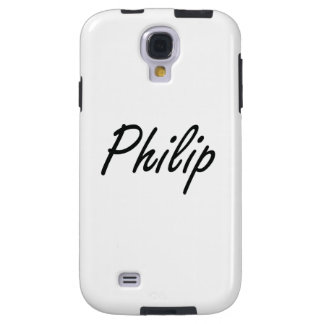 Philip Artistic Name Design Galaxy S4 Case
