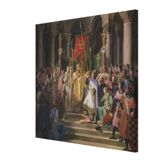 Philip Augustus  King of France Taking the Canvas Print