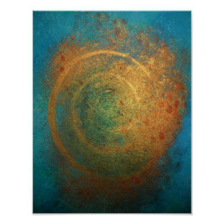 """Philip Bowman """"Blue And gold Posters"""