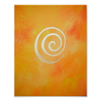 Philip Bowman Bright Yellow Infinity Abstract Art Poster