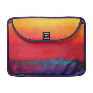 Philip Bowman Evening Colors Modern Abstract Art Sleeve For MacBooks